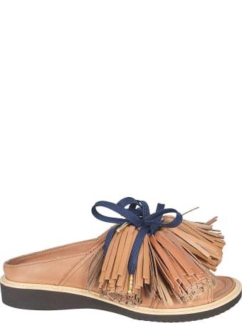 Zucca Fringed Tassel Detail Sandals