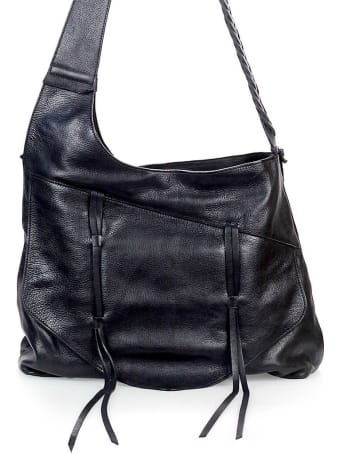 Rehard Black Leather Shoulder Bag
