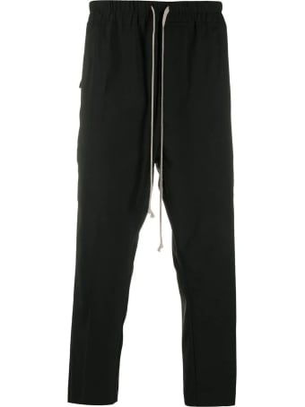 Rick Owens Black Virgin Wool-blend Trousers