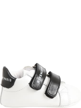 Givenchy White Shoes For Babykids With Logo