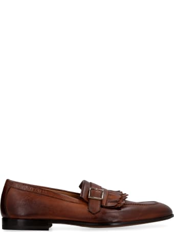Doucal's Fringed Leather Loafers