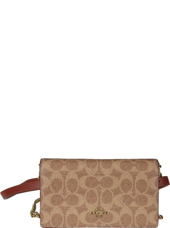 Coach Logo Plaque Shoulder Bag