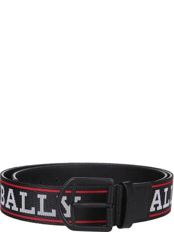 Bally Intarsia Logo Belt
