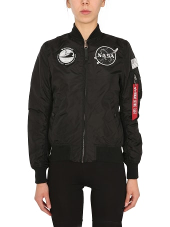 "Alpha Industries Reversible ""ma1 Tt Nasa"" Jacket"
