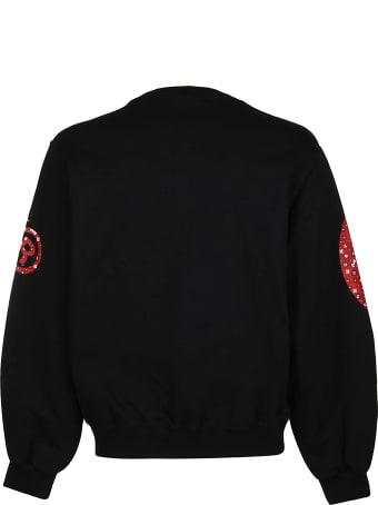 GCDS Black Cotton Sweatshirt