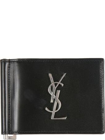 Saint Laurent Logo Plaque Wallet