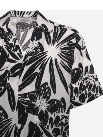 Laneus Two-tone Tropical Bowling Shirt