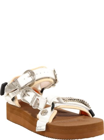 SUICOKE Buckle-embellished Flatform Sandals