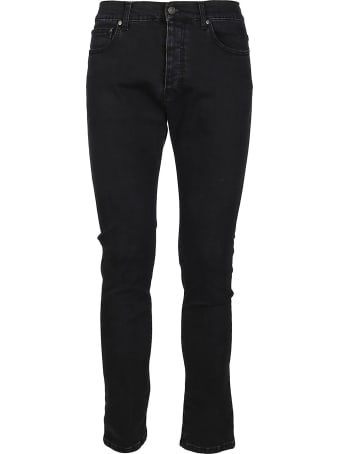 MSGM Black Stretch Cotton Jeans