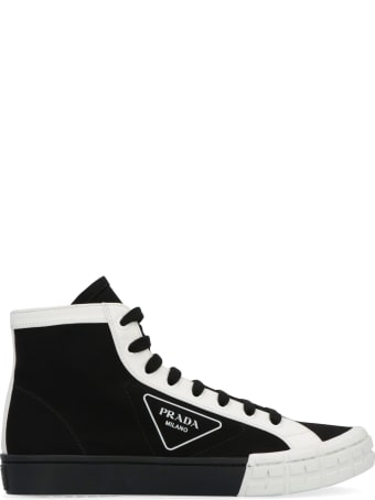 Prada Gabardine High-top Sneakers