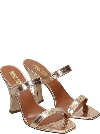 Paris Texas Sandals In Platinum Leather