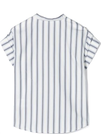 Chloé White And Blue Cotton Shirt