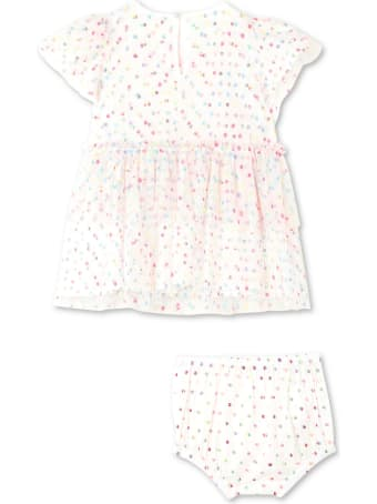 Stella McCartney Embroidered Dots Tulle Dress
