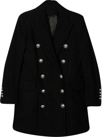 Balmain Black Teen Coat