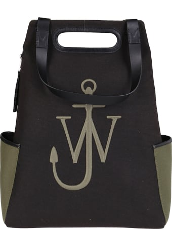 J.W. Anderson Black And Green Canvas Backpack