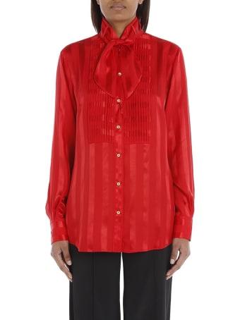 Dolce & Gabbana Striped Satin Jacquard Shirt