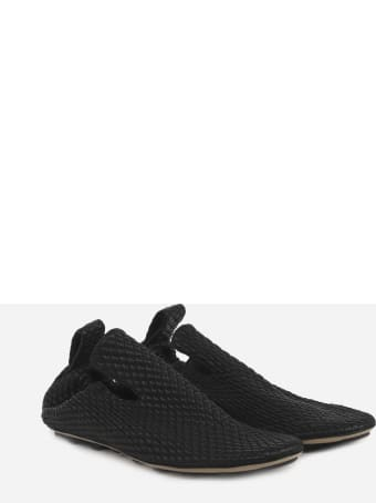 Bottega Veneta Black Slippers Made Of Lambskin