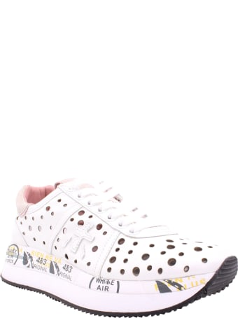 Premiata Conny 4728 Leather Sneakers