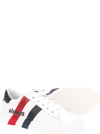 Moncler White Shoes With Round Tip