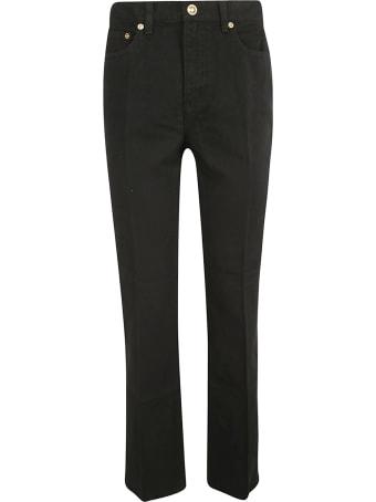 Tory Burch Printed Boot-cut Denim Trousers
