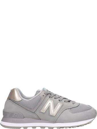 New Balance 574 Sneakers In Grey Nubuck