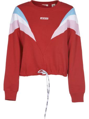 Levi's Red Color Block Sweatshirt