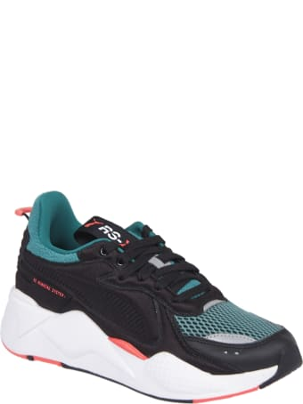 Puma Black And Green Sneakers Rx-softcase