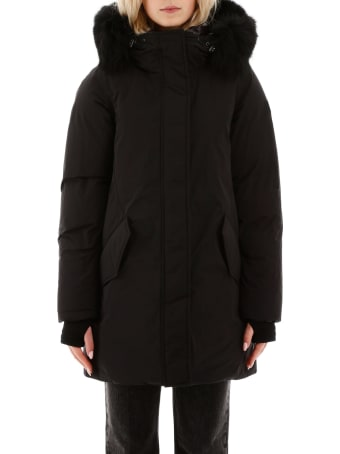 Woolrich Mountain Parka With Fox Fur