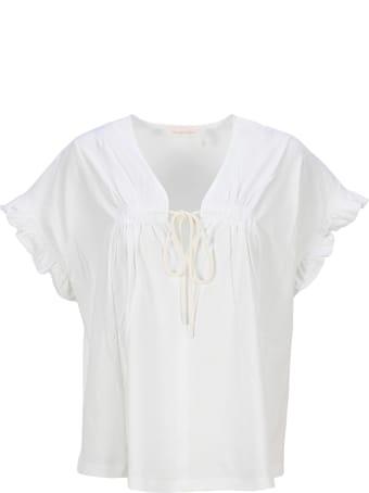 See by Chloé See By Chloe' Ruffled Sleeve T-shirt