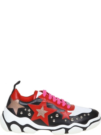 RED Valentino Leather Sneakers Color Black / Red / White