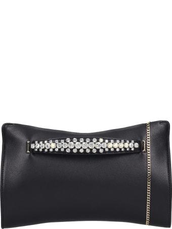 Jimmy Choo Venus Clutch In Black Leather