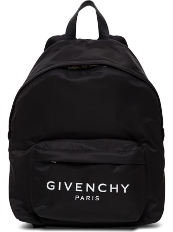Givenchy Black Nylon Backpack With Logo