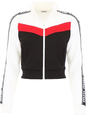 Miu Miu Track Jacket With Logo