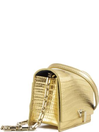 the VOLON Gold-tone Shoulder Bag