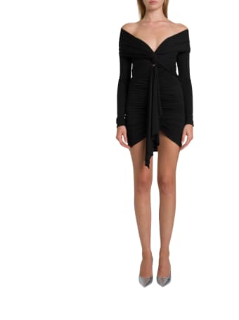 Alexandre Vauthier Stretch Jersey Wraped Dress