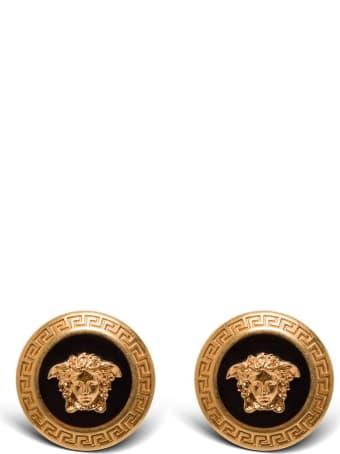 Versace Metal Earrings With Medusa Logo