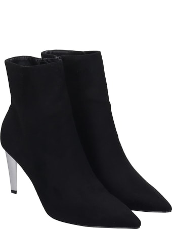 Kendall + Kylie Hadlee High Heels Ankle Boots In Black Suede