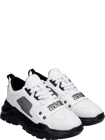 Versace Jeans Couture Sneakers In White Rubber/plasic