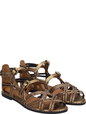 See by Chloé Flats In Bronze Leather
