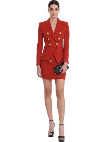 Balmain Blazer In Red Viscose