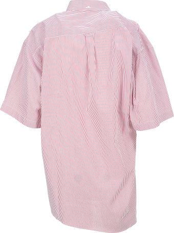 Y/Project Striped Asymmetric Shirt