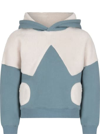 Owa Yurika Light Blue ''hiyori'' Sweatshirt For Boy
