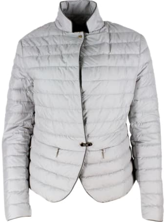 Moorer Light Jacket In Real Goose Down Slim With Concealed Pockets. Matte Color