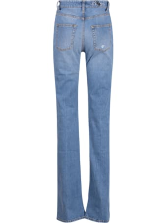 Palm Angels Indaco Flared 5 Pockets Long Jeans