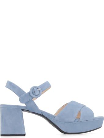 Prada Suede Heeled Sandals