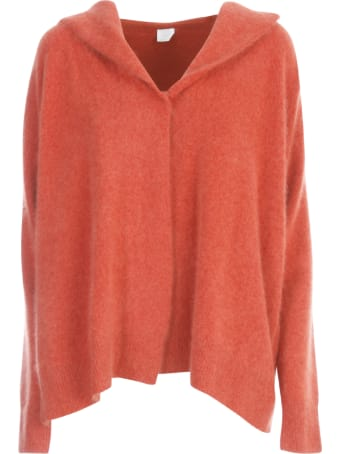 C.T.plage Hooded Cardigan With Buttons