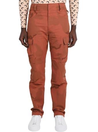 Marine Serre Terracotta Military Trousers