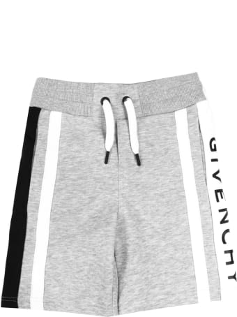Givenchy Grey Cotton Logo Jersey Shorts