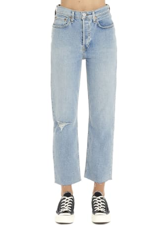 RE/DONE 'stove Pipe Destroyed' Jeans