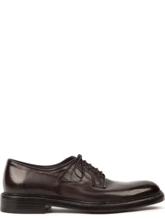 Green George Dark Brown Leather Shoes